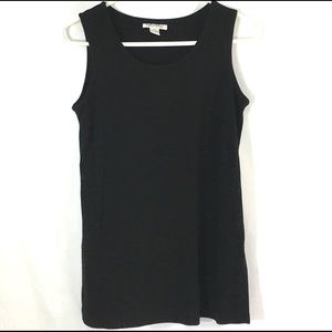 Sleeveless Black Rayon Nylon SM Top